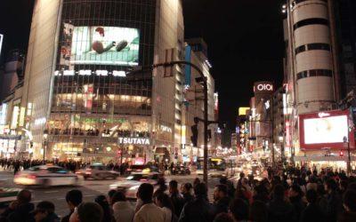 Filming Shibuya Crossing, Tokyo